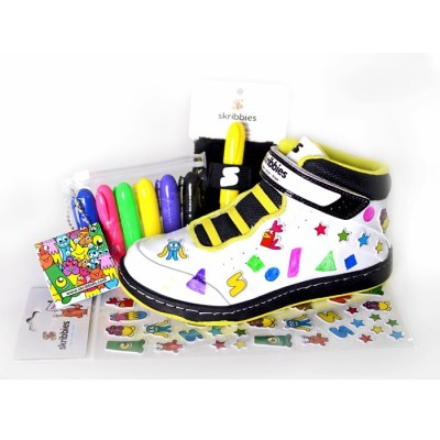Skribbies customisable trainers