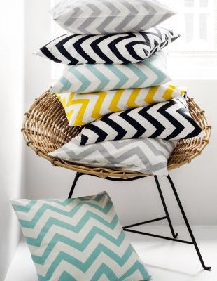 Hot on the high street: H&M chevron cushion cover