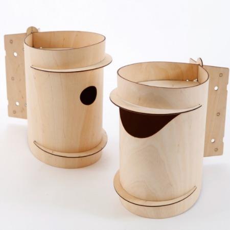 Mrs Birdie Birch Ply Nesting Box