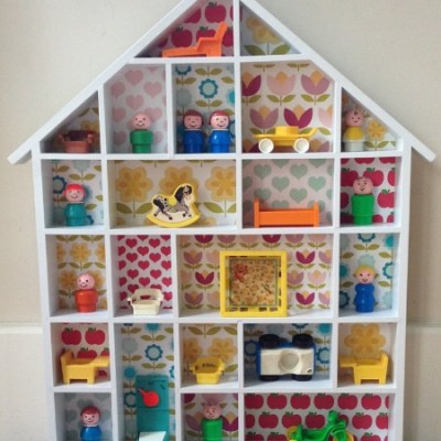 Vintage Fisher Price wall display with Little People