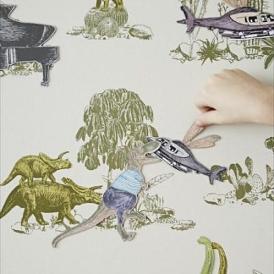 Sian Zeng magentic dinosaurs wallpaper