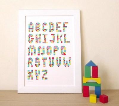 Hello DODO alphabet print