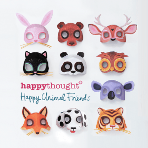 Happy Thought printable animal masks