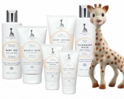Sophie La Girafe skincare