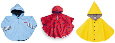 Cool rain capes - modern rain capes for kids