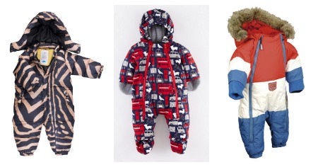 Snuggly snowsuits and cool pram suits