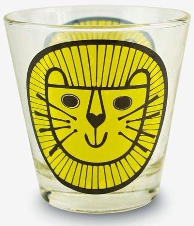 Jane Foster lion glass