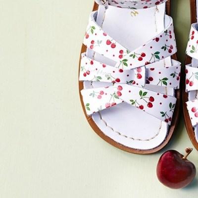 New Sun-San/Salt-Water cherry print sandals