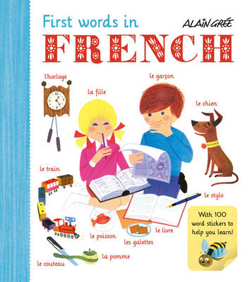 Alain Grée's First Words in French sticker book