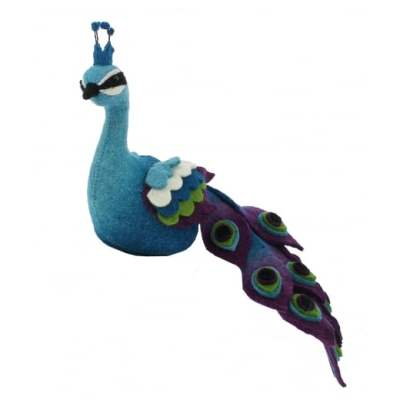 Fiona Walker England Felt Peacock Bookend