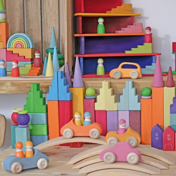 Grimms blocks with cars
