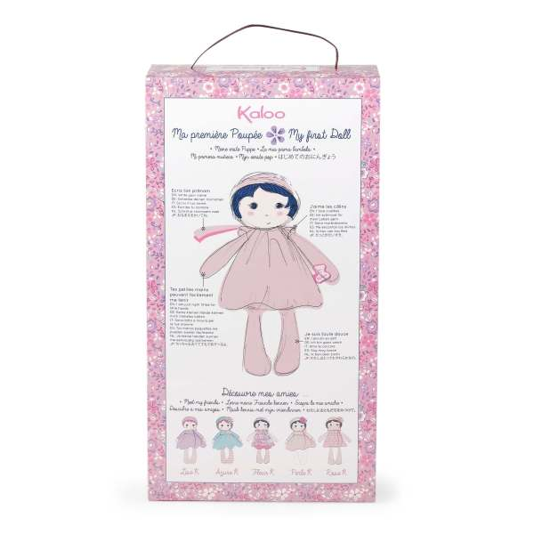 back of kaloo tendresse doll box