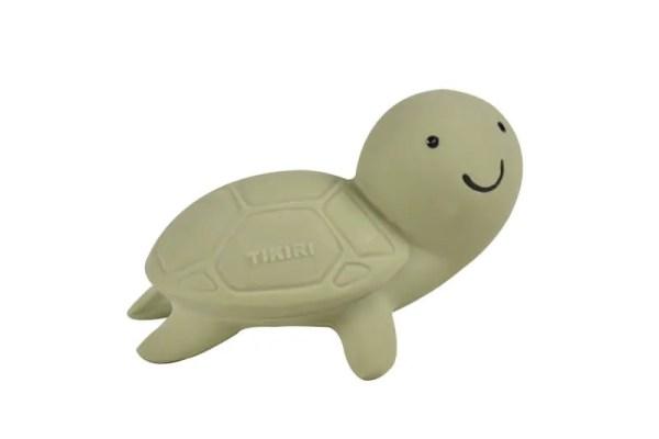 tikiri happy turtle rubber teether