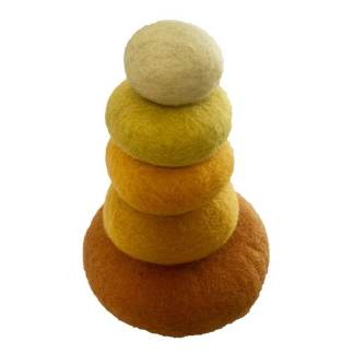 yellow stacking pebbles papoose felt