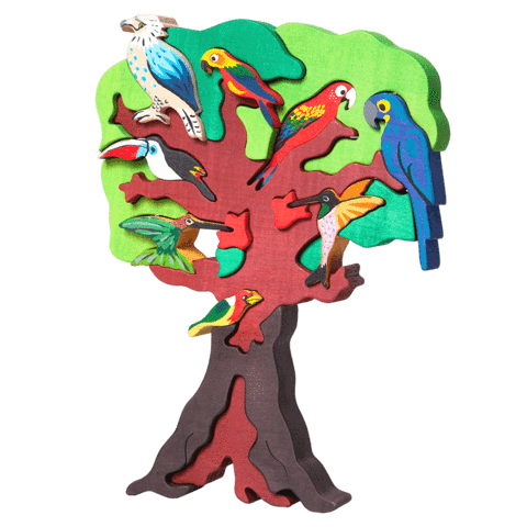 South American bird tree puzzle