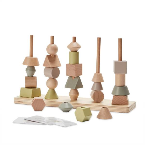 astrup wooden stacking shape tower