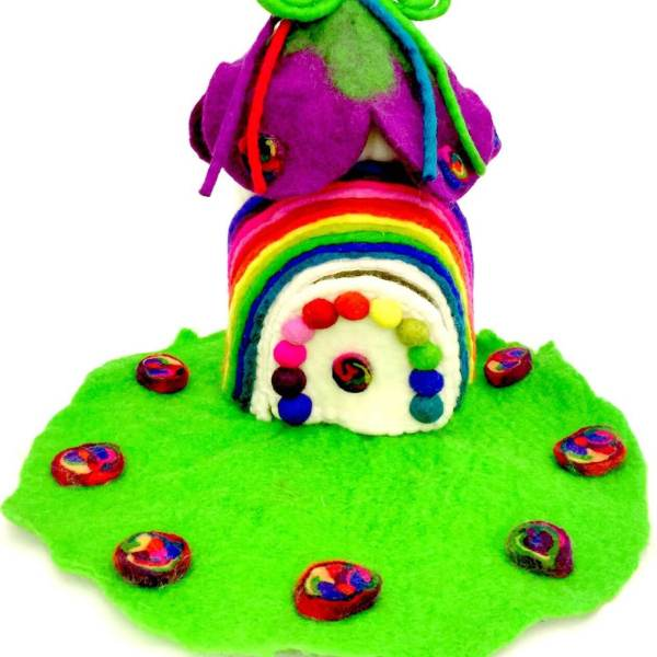 rainbow fairy house