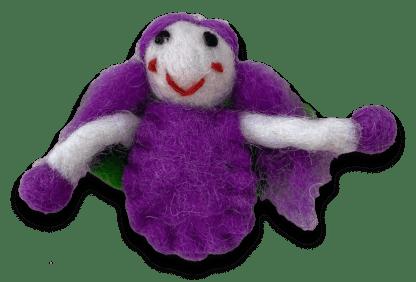 purple tiny fairy wool felt