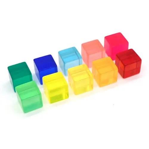 lucite cubes bauspiel