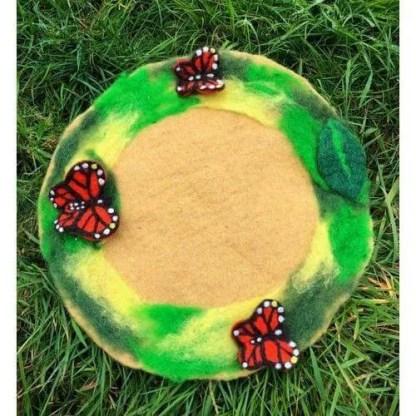Felt butterfly summer playmat