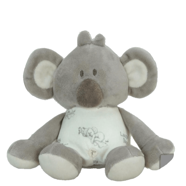 baby koala soft rattle toy