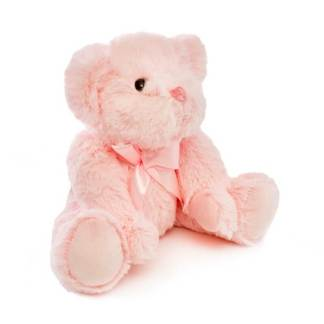 pink jointed teddy bear 25cm