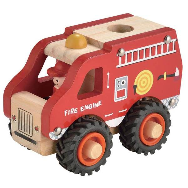 red wooden fire engine