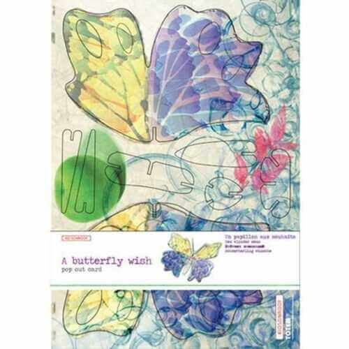 studio roof large butterfly pop out card