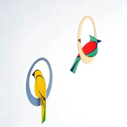 studio roof swing birds pop out card