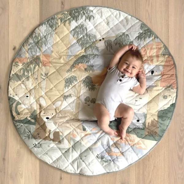tummy time playmat with aussie animals mister fly