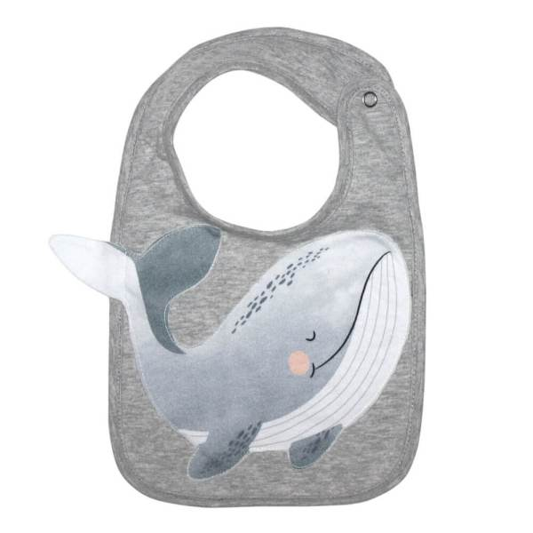 whale face bib mister fly