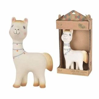 Tikiri lilith llama and box rubber teether