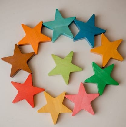 wooden stars in play qtoys