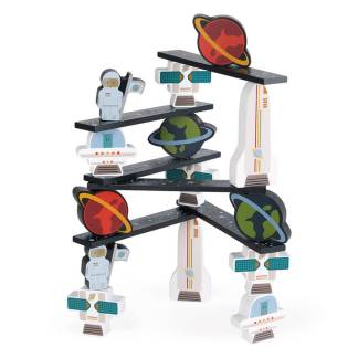 space and planet wooden blocks janod