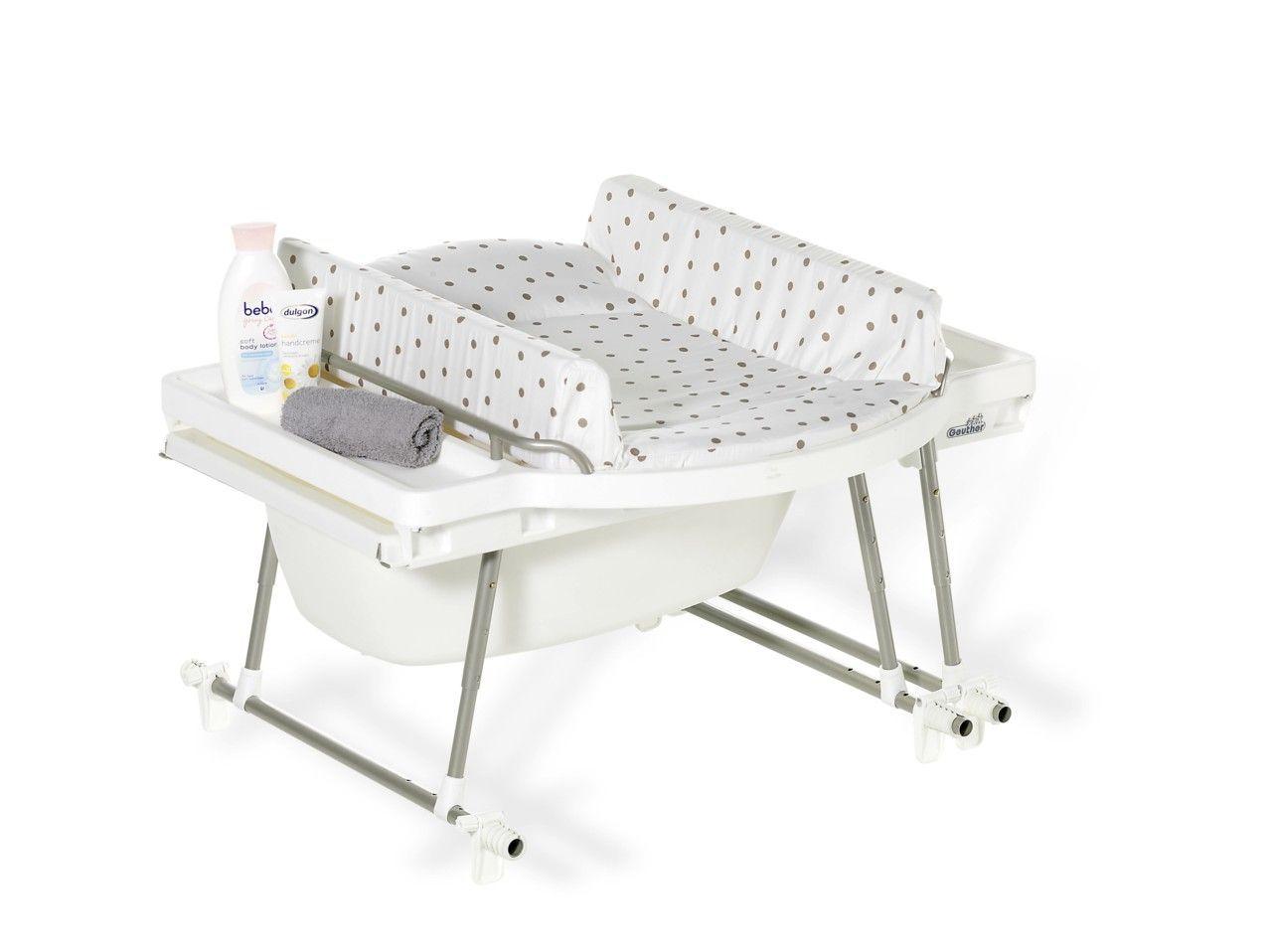 combine baignoire et table a langer aqualino avec matelas
