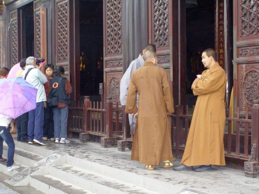 Da Ci Tempel mit Mönchen