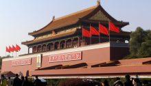 China Informationen symbolisiert durch das Tor des Himmlischen Friedens