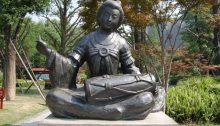 Grab des Königs Wang Jian Trommlerin