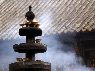 Wenshu Tempel Weihrauch