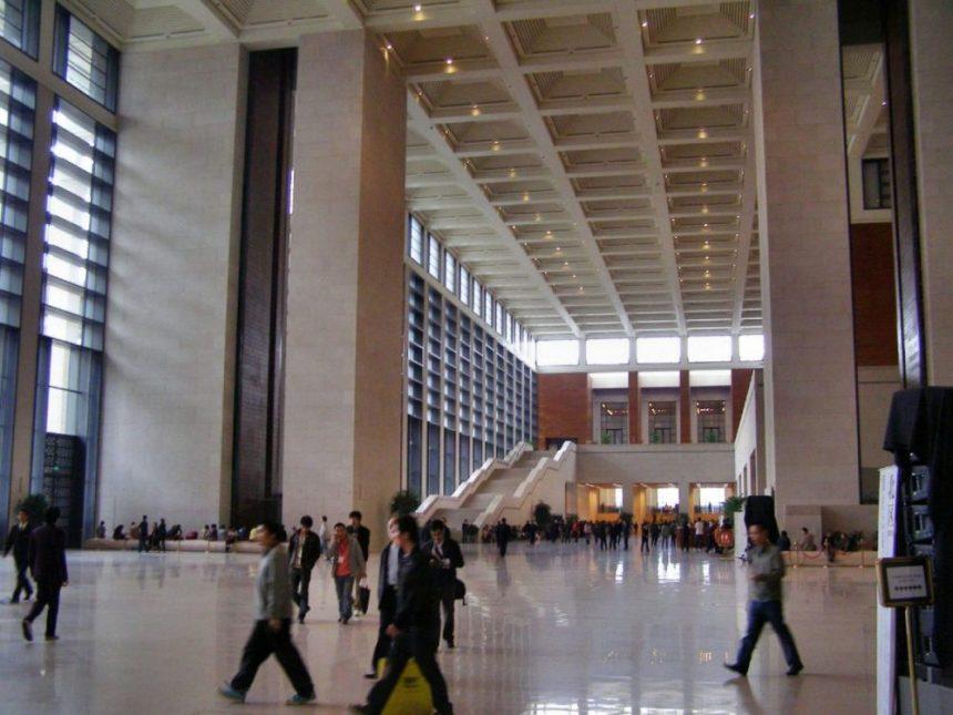 Das chinesische Nationalmuseum - Eingangshalle