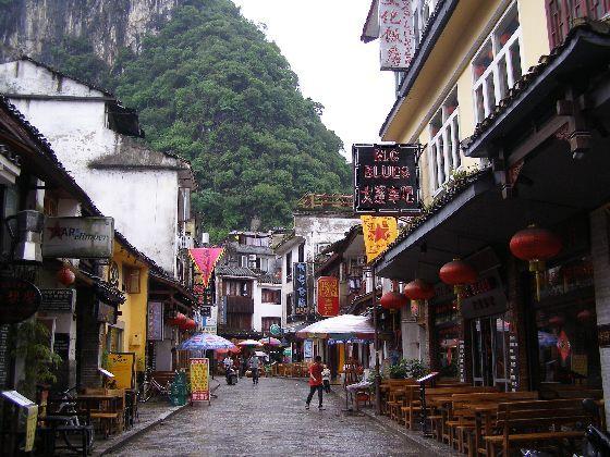 Touristenstraße in Yangshuo