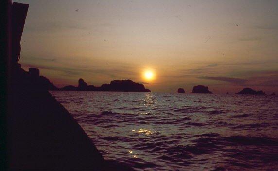 Krabi Sonnenuntergang Weihnachten in Thailand