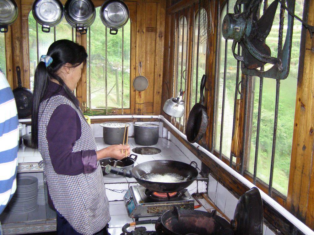 Meijing Lou Gasthaus Küche