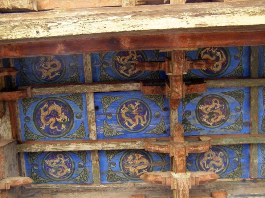 Shuanglin-Tempel Detail