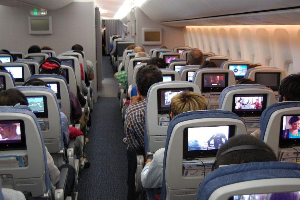 Air China im Flieger.