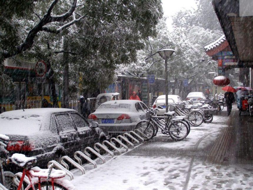 Xicheng Hutongs im Schnee
