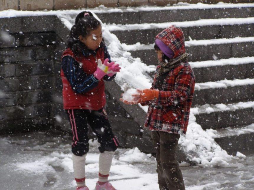 Schnee in Peking