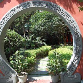 Im Garten des Wenshu Tempels in Chengdu