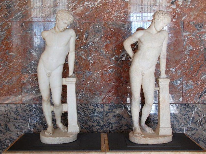 Römische Marmorkopien einer griechischen Bronzestatue