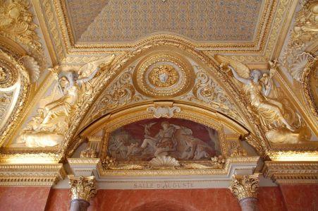 Decke des alten Palastes im Louvre